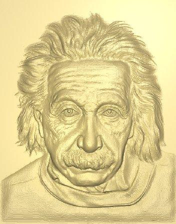 Резное панно Альберт Энштейн