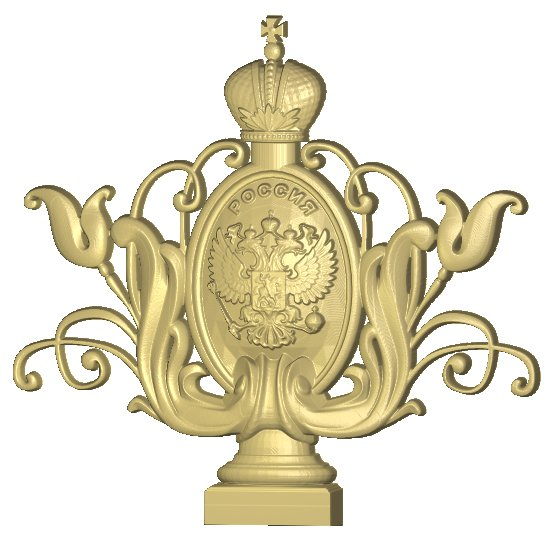 Герб России резной из дерева Вариант2