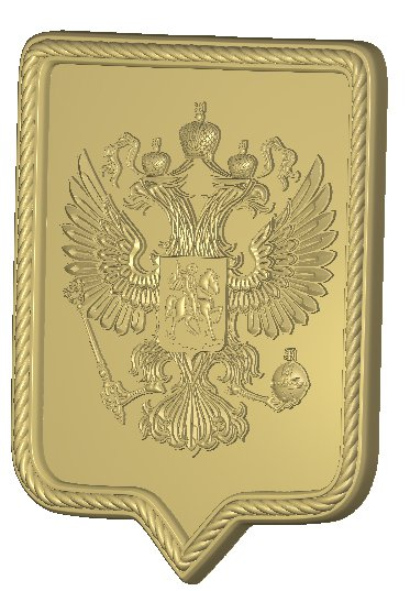 Герб России резной из дерева Вариант 5