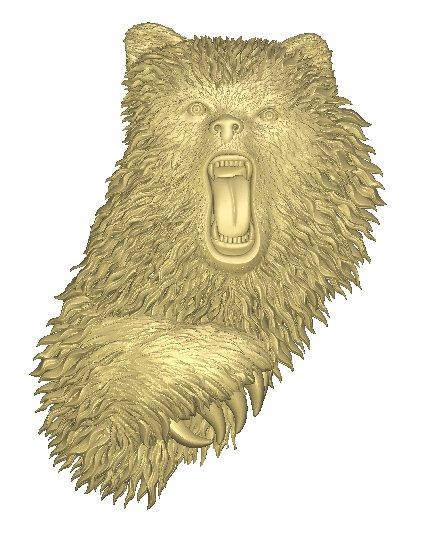 Панно на дверь под старину Медведь