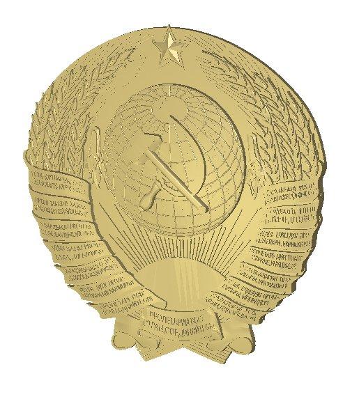 Герб резной СССР