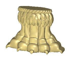 Основание колонны - лапа льва 20