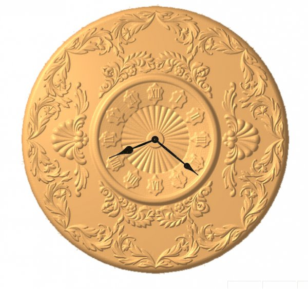 Часы №4 круглые резные