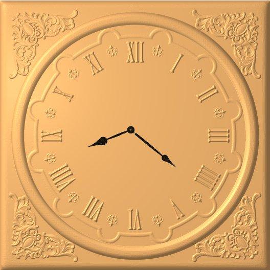 Часы №5 квадратные резные