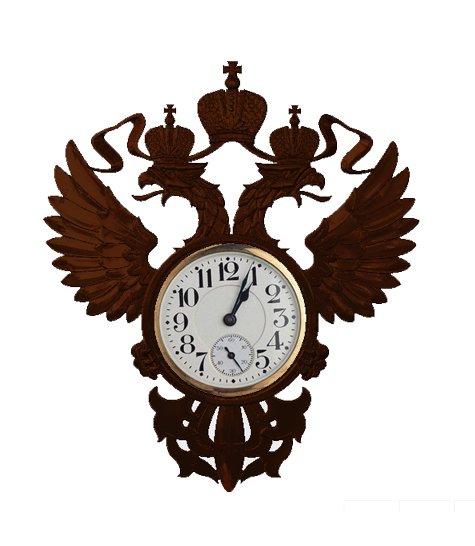 Часы №6 Орел резной двуглавый
